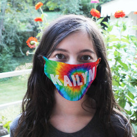Personalized Tie Dye Face Mask