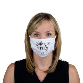 Personalized Wife of the Party Face Mask