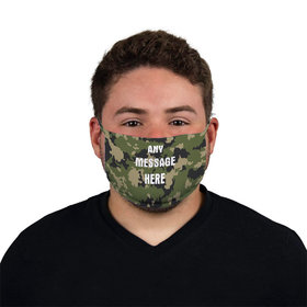 Personalized Camo Write Your Own Message Face Mask