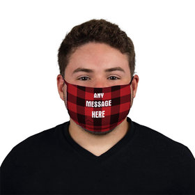 Personalized Plaid Write Your Own Message Face Mask