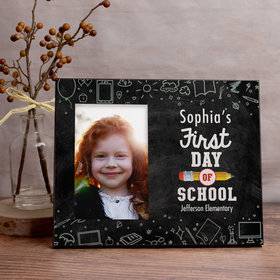 Personalized Picture Frame First Day of School Chalkboard