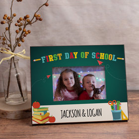 Personalized Picture Frame First Day of School Supplies