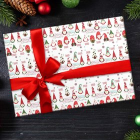 Personalized Gnomes Christmas Wrapping Paper