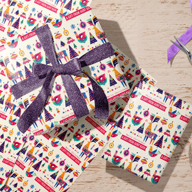 Personalized Scandinavian Christmas Wrapping Paper