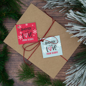 Personalized Handmade with Love Gift Tags (24 Pack)