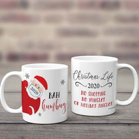 Personalized Bah Humbug 11oz Mug Empty