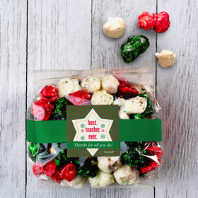 Personalized Christmas Ugly Sweater Holiday Candy Coated Popcorn 3.5 oz Bags