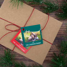 Personalized Joy Photo Gift Tags (24 Pack)