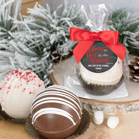 Personalized Christmas Hot Cocoa Bomb Glory to God in the Highest