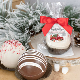 Personalized Christmas Hot Cocoa Bomb Rustic Red Truck
