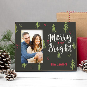 Personalized Picture Frame Christmas Merry and Bright