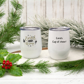 Christmas Eat Drink and Be Merry Wine Tumbler (12oz)