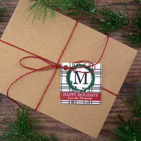 Personalized Monogram Wreath Gift Tags (24 Pack)