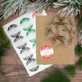 Personalized Seasons Greetings Labels (72 Pack)