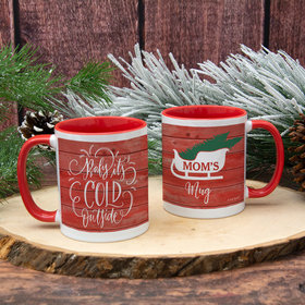 Personalized Baby its Cold Outside 11oz Mug Empty