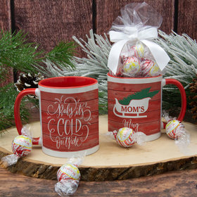 Personalized Baby its Cold Outside 11oz Mug with Lindor Truffles by Lindt