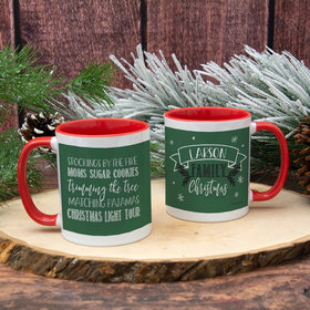 Personalized Family Christmas Traditions 11oz Mug Empty