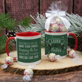 Personalized Family Christmas Traditions 11oz Mug with Lindor Truffles by Lindt