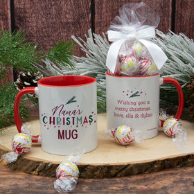 Personalized Grandma Christmas 11oz Mug with Lindor Truffles by Lindt