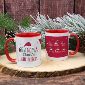 Personalized Grandma Claus's 6 Little Helpers 11oz Mug Empty