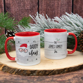Personalized Santa Elf Family Daddy 11oz Mug Empty