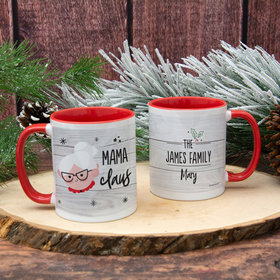 Personalized Santa Elf Family Mama 11oz Mug Empty