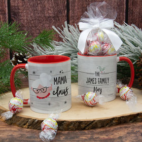 Personalized Santa Elf Family Mama 11oz Mug with Lindor Truffles by Lindt