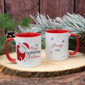Personalized Quarantine Santa Christmas 11oz Mug Empty
