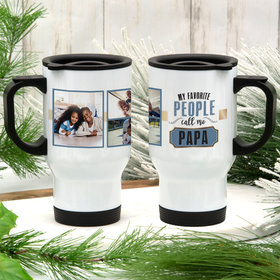 Personalized Travel Mug Grandparent Gifts (14oz) - My Favorite People Call Me
