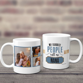 Personalized My Favorite People Call Me 11oz Mug Empty