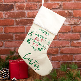 Personalized Christmas Stocking Babies First Xmas