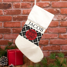 Personalized Christmas Stocking Merry and Bright