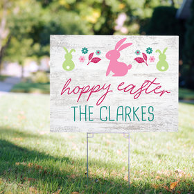 Personalized Hoppy Easter Yard Sign