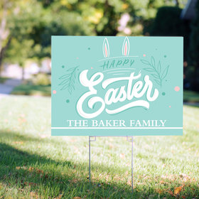 Personalized Happy Easter Yard Sign