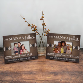Personalized Picture Frame Any Man Can be a Father
