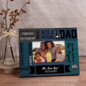 Personalized Picture Frame Dad Word Cloud