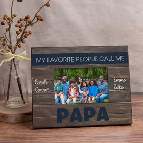 Personalized Picture Frame My Favorite People Call Me Papa (4)