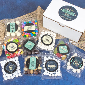 Personalized Father's Day Care Package Candy Gift Box