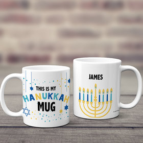 Personalized This is My Hanukkah 11oz Mug Empty