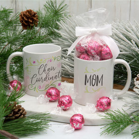 Personalized Chaos Coordinator 11oz Mug with Lindt Truffles