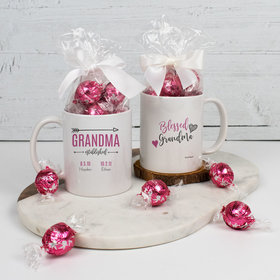 Personalized Grandma 11oz Mug with Lindt Truffles - Blessed with 2