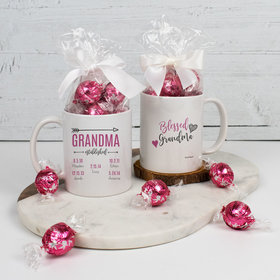Personalized Grandma 11oz Mug with Lindt Truffles - Blessed with 5