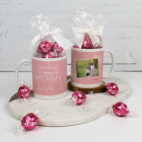 Personalized Mother 11oz Mug with Lindt Truffles - Our Hearts Belong to Mommy 3