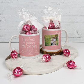 Personalized Mother 11oz Mug with Lindt Truffles - Our Hearts Belong to Mommy 5