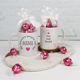 Personalized 11oz Mug with Lindt Truffles - My Favorite People Call me Mama