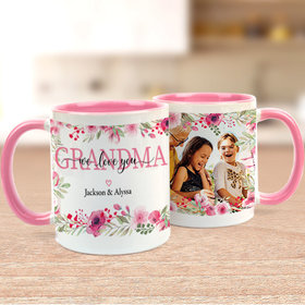 Personalized 11oz Empty Mug - We Love you Grandma