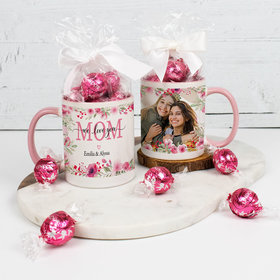 Personalized 11oz Mug with Lindt Truffles - We Love you Mom