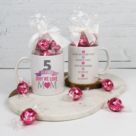 Personalized 11oz Mug with Lindt Truffles - 5 Reasons Why we Love Mom