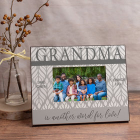 Personalized Picture Frame Grandma is Another Word for Love! (4)