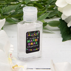Hand Sanitizer Mardi Gras 2 fl. oz bottle
